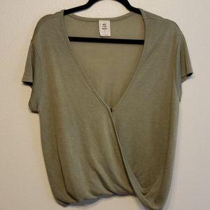 Free People Hoffman Surplice wrap blouse-I45